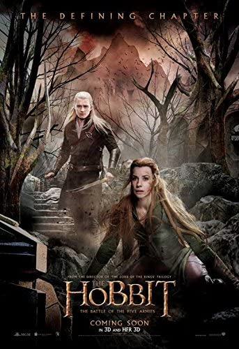 Amazon Com The Hobbit The Battle Of The Five Armies Movie Poster 11 X 17 Style F 2014 Unframed Posters Prints