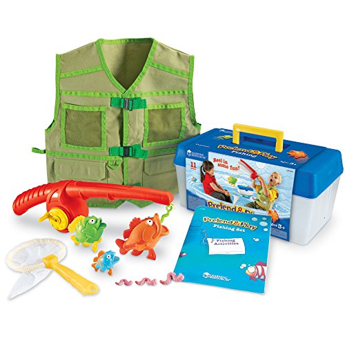 Learning Resources Pretend & Play Fishing Set (Dress Up Clothes For Boys)