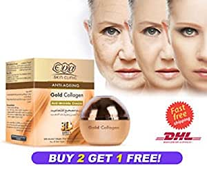 EVA Anti Aging Gold Collagen Anti Wrinkle Cream 3D Effect 50ml, Buy 2 Get 1 FREE