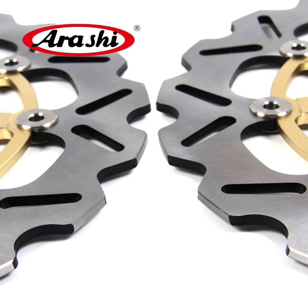 Arashi Front Brake Disc Rotor for Suzuki GSXR 600 2008-2014 Motorcycle Replacement Accessories GSX R GSX-R GSXR600 750 1000 Gold 2009 2010 2011 2012 2013 by Arashi (Image #5)