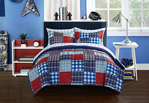 Heritage Kids Mad Plaid Bed-in-a-Bag Plaid Bed Bag