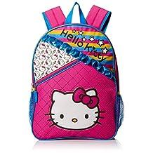 Hello Kitty Girls' Ruffles 16 inch Backpack, Pink