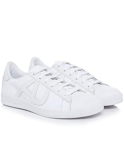 ARMANI JEANS Sneakers Croc Cup Uomo Bianco Pelle (44 833ed3c3d1e