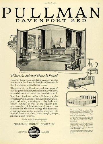 1925 Ad Sleeper Sofa Pullman Couch Co Davenport Bed Living Room No 2637 Mattress - Original Print Ad (Pullman Sleeper)