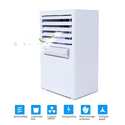 Amazon.com: MTOFAGF Mini Personal Air Conditioner Fan ...