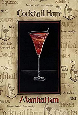 Cartel de Chapa genérico, 20 x 30 cm, Cartel de cóctel, Hour ...