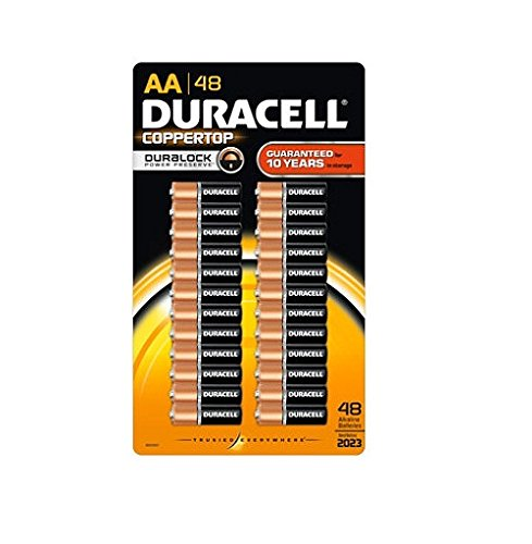 Compare price to duracell aa batteries 48 pack