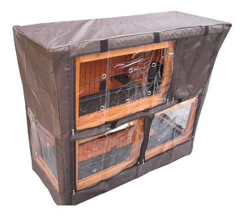 BUNNY BUSINESS Hutch Cover for Double Decker Hutch, 48