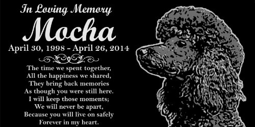 Personalized Black Poodle Dog Pet Memorial 12