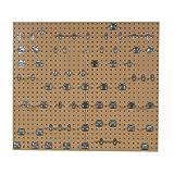 LocBoard LBS30L-SLV Epoxy 18 Gauge Steel Square Hole Pegboards with 63 Piece LocHook Assortment, 24 x 42-1/2 x 9/16'', Tan