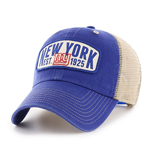 NFL New York Giants Woodford OTS Challenger Adjustable Hat, Royal, One Size