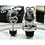Two Hearts Are Better Than One Wine Pourer / Bottle Stopper Combination - 48 Pieces