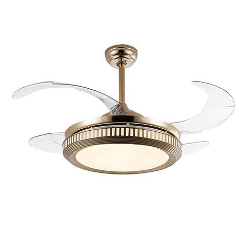 Amazon.com: Ventilador de techo LED de tres colores con luz ...