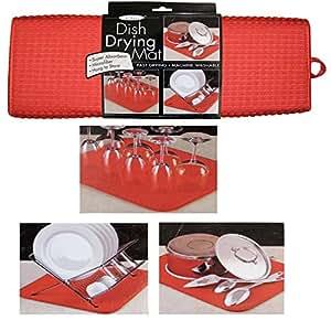 Amazon Com The Originaltm Dish Drying Mat Microfiber