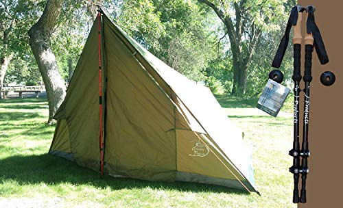 River Country Products 4 Person Tent, Trekker Tent 4 - Green (Tent with Poles) (Best A Frame Tent)