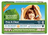 Seventh Generation Baby Diapers, Free and Clear for Sensitive Skin, Original Unprinted, Size 6, 100 Count