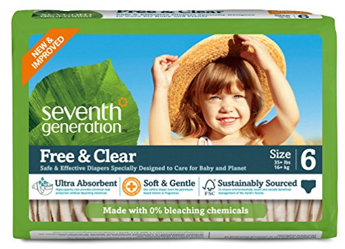 Seventh Generation Baby Diapers, Free and Clear fo…