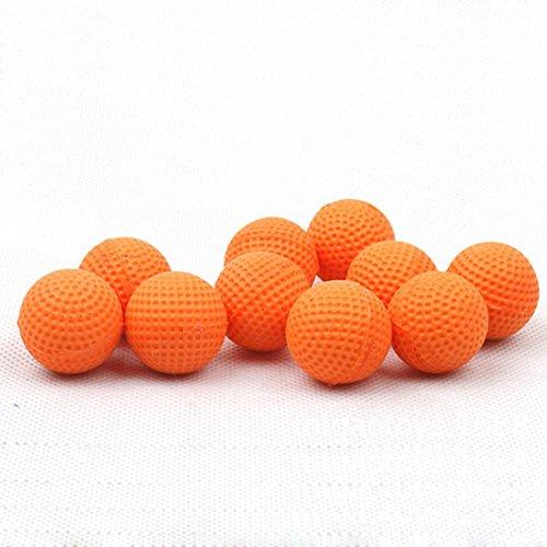 Alonea 50PCS Rounds Refill Bullet Balls for Nerf Rival Apollo Zeus Refill Toy Compatible Gun Bullet Balls (Orange)