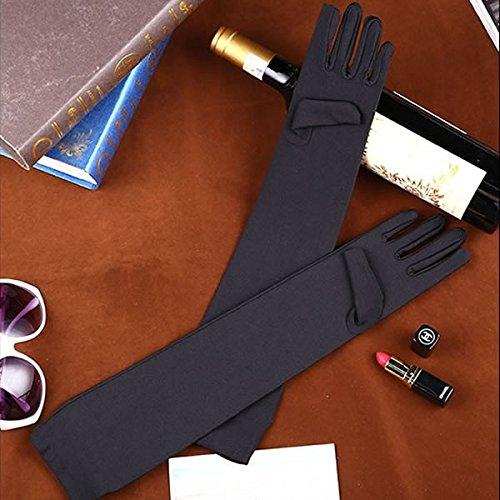 [RONDEL-BLACK(ロンデルブラック)] ダンス衣装 小物 ロング グローブ てぶくろ 手袋 黒 ブラック
