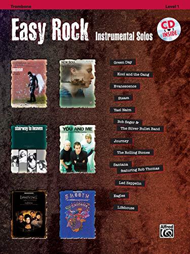 Easy Rock Instrumental Solos, Level 1: Trombone, Book & CD (Easy Instrumental Solos Series)