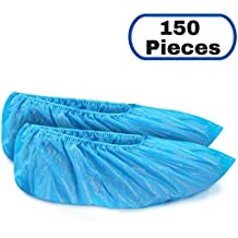 MIFFLIN Disposable CPE Shoe Covers (150 Pieces) Non-Slip Waterproof Durable Boot Covers Shoe Booties One Size Fits Most