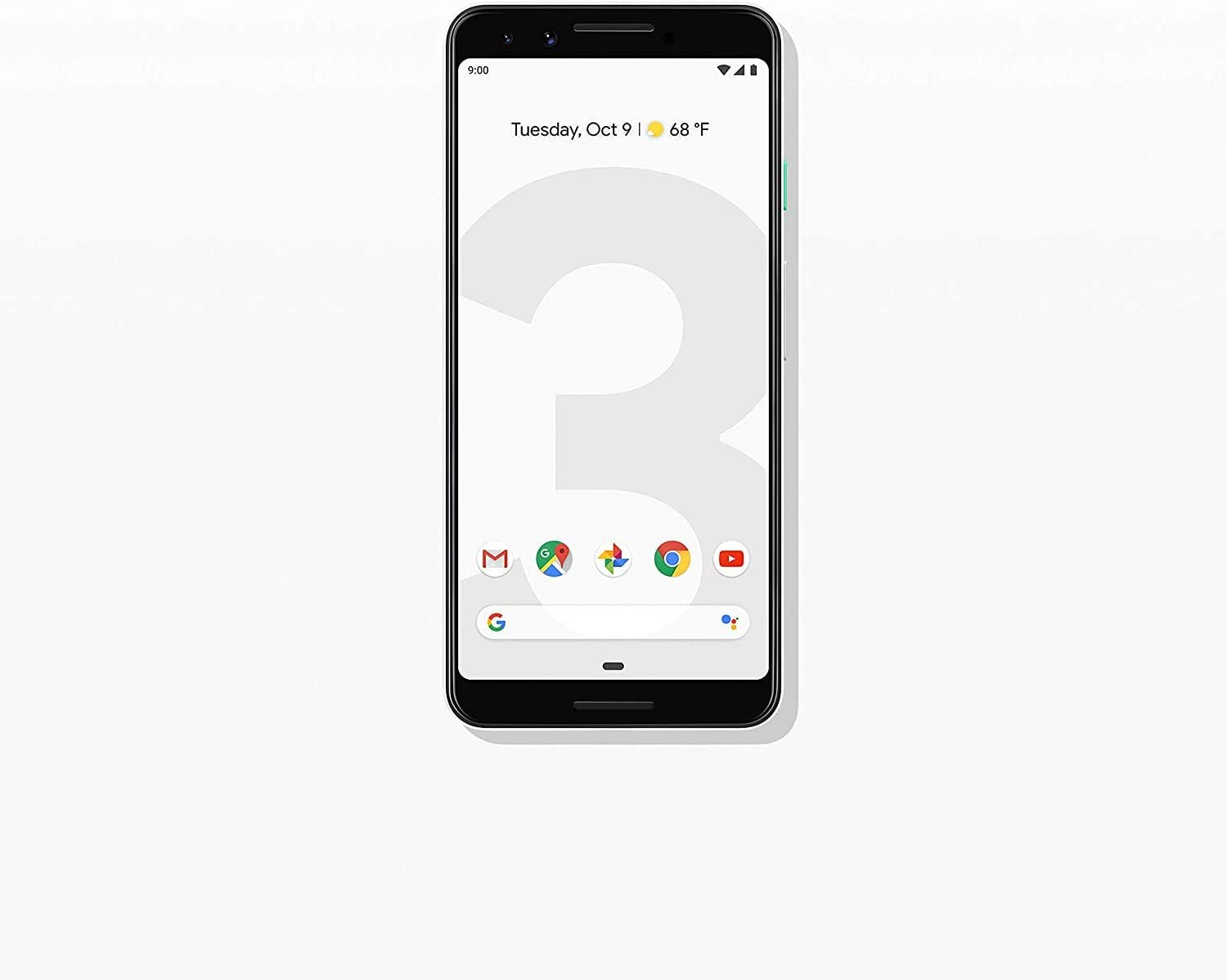 Google Pixel 3 (64GB, 4GB RAM) 5.5 QHD+, IP68 Water Resistant, Snapdragon 845 GSM/CDMA Factory Unlocked (AT&T/T-Mobile/Verizon/Sprint) (Clearly White)