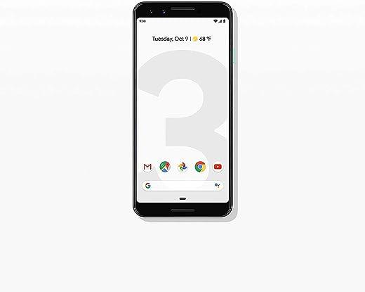Google Pixel Phone 3-64GB Clearly White (Renewed)