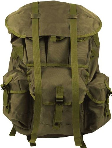 Olive Drab Military Large Alice Pack with Heavy Duty Frame
