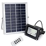Remote Control Solar Flood Light, Lineway 10W 450 Lumen Outdoor Waterproof Dimmable Solar Powered Flood Light for Garden/Yard/Patio/Swimming Pool/Barbeque/Party