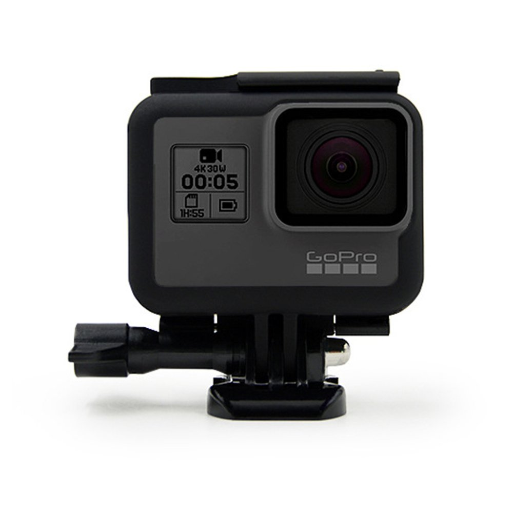 Frame for GoPro Hero 6/5 Housing Border Protective Shell Case Accessories for Go Pro Hero 6/5 Black with Quick Pull Movable Socket and Screw