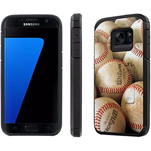 Galaxy [S7] [5.1 Screen] Defender Hybrid Case [SlickCandy] [Black/Black] Dual Layer Protection [Kick Stand] [Shock Proof] Phone Case - [BaseBall] for Samsung Sales