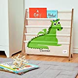 CUSTOM EMBROIDERED MONOGRAMMED PERSONALIZED 3 Sprouts Book Rack – Dragon