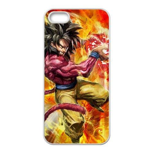 B2Q31 Dragon Ball Goku W5C9UU coque iPhone 4 4s cellule de cas de téléphone couvercle coque blanche RW7WJC7OQ