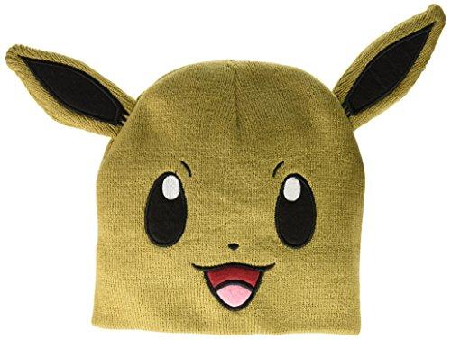 [BIOWORLD Pokemon Eevee Big Face Fleece Cap Beanie with Ears] (Charizard Costume For Pikachu)
