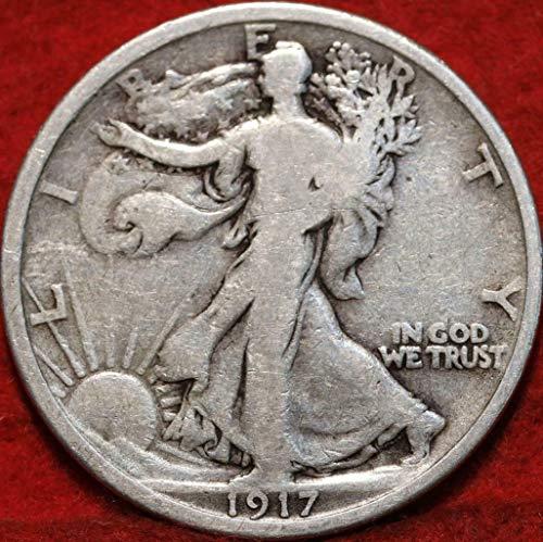 1917 Walking Liberty 90% Silver Half Dollar VG and Better Full Rim and Full Date US Mint (1917 Walking Liberty)