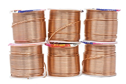 Mandala Crafts Anodized Aluminum Wire for Sculpting, Armature, Jewelry Making, Gem Metal Wrap, Garden, Colored and Soft, Assorted 6 Rolls (16 Gauge, Combo 2)