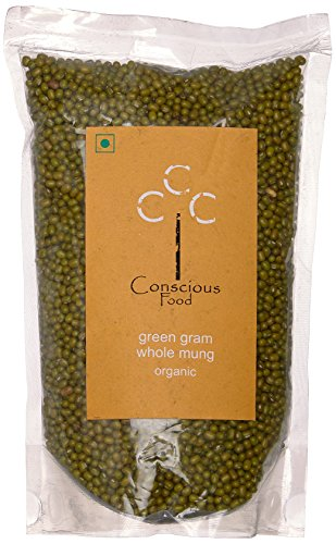 Conscious Food Organic Green Gram (Whole Mung)-500g by CONSCIOUS FOOD