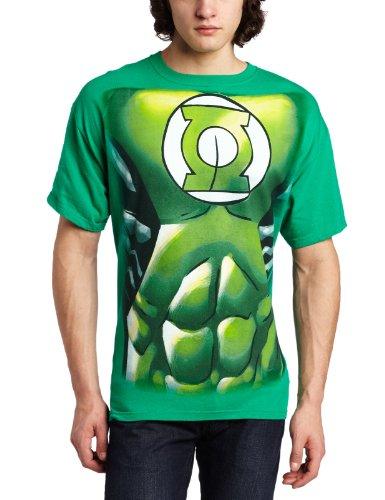 New Green Lantern Costumes Tshirt (Mens DC Comics Green Lantern Muscle Costume T-shirt (M/Green))