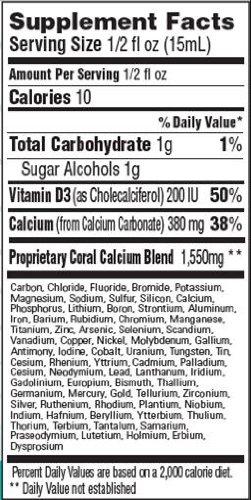 Drinkables Liquid Coral Calcium, 380 mg, Vanilla, 33 Ounces (Pack of 2)