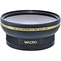 62MM 0.43x Wide Angle Conversion Lens with Macro Close-Up Attachment for Canon, Carl Zeiss, Fujifilm, Nikon, Panasonic, Pentax, Olympus, Samsung, Sigma, Tamron, Tokina Lens