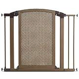 Munchkin Decorative Metal Pressure Mount Baby Gate for Stairs, Hallways and Doors, MKSA0658-011, Bronze Review