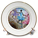 3dRose Art by Mandy Joy - Dancers - A Modern Impressionist Painting of a 4 Girls in Ballet Class. - 8 inch Porcelain Plate (cp_291490_1)