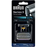 31S BRAUN 5000/6000 Series Contour Flex XP Integral Shaver Foil & Cutter Head Replacement Combi Pack Silver Color by Braun