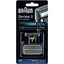 31S BRAUN 5000/6000 Series Contour Flex XP Integral Shaver Foil & Cutter Head Replacement Combi Pack Silver Color