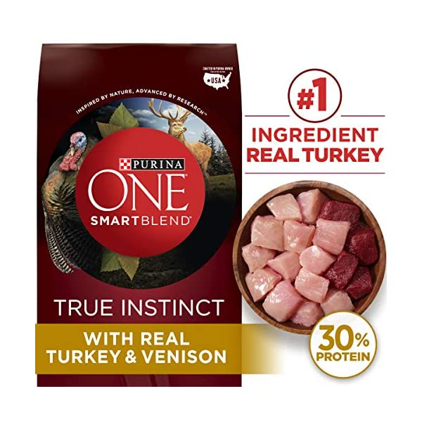 Purina ONE High Protein Natural Dry Dog Food, SmartBlend True Instinct With Real Turkey & Venison – 27.5 lb. Bag