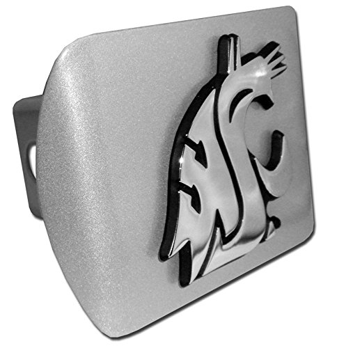- Washington State Cougars Brushed Silver Metal NCAA Trailer Hitch Cover Fits 2 Inch Auto Car Truck Receiver