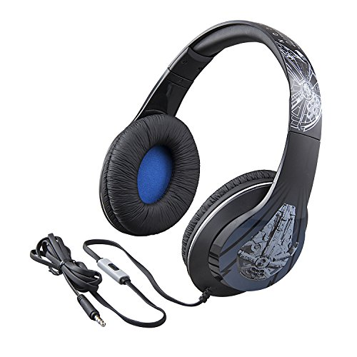 Star Wars Han Solo Movie Millenium Falcon Over The Ear Headphones with Built in Microphone (Star Wars Headphones For Kids)