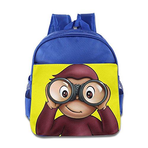 Curious George Monkey Kids School Backpack Bag