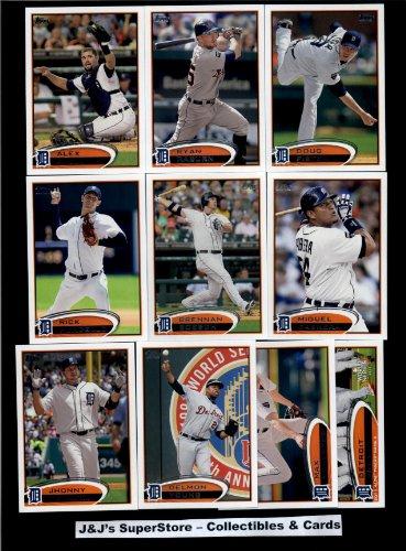 2012 Topps Detroit Tigers MLB Team Set In Ultra Pro Album (Series 1 & 2) - 22 Cards - includes Porcello, Boesch, Fister, Cabrera, Avila, Prince Fielder, Turner, Valverde, Jackson, Verlander Plus (Detroit Tigers Album)
