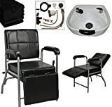 LCL Beauty Shampoo Package with Reclining Shampoo Chair with...